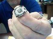 Gent's Silver-Diamond Ring 90 Diamonds .90 Carat T.W. 925 Silver 6.5g